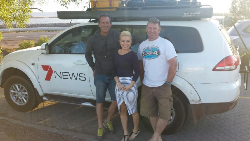 Aurora Team Member Darren Trafford and the Channel 7 Weather Team
